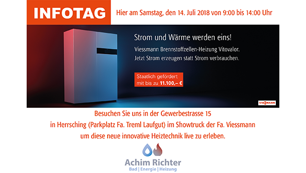 Richter - MEISTER DER ELEMENTE: Besuchen Sie uns am 14.07.2018 in der Gewerbestrasse 15 in Herrsching